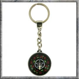 """Sleutelhanger """"Pentagram Rose"""""""