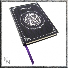 "Journaal A5 ""Spell Book"" donkerpaars"
