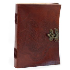 "Lederen Blanco Boek ""Dragon"" 20 cm"