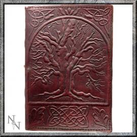 "Lederen Blanco Boek ""Tree of Life"" 25 cm"
