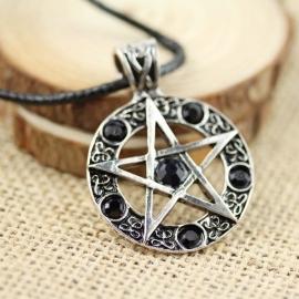"Ketting ""Pentagram"" zwart"