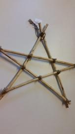 Pentagram van wilgenhout