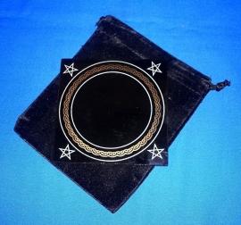 Zwarte Spiegel met Opbergzak