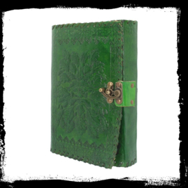 """Lederen Blanco Boek """"Green Man"""" 25 cm"""