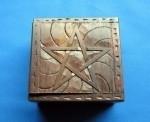 Opbergdoosje Hout met Pentagram