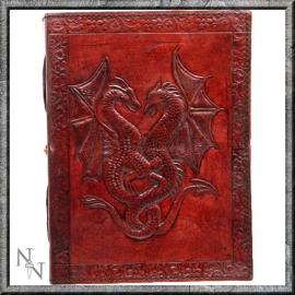 """Lederen Blanco Boek """"Dragons"""" 18 cm"""