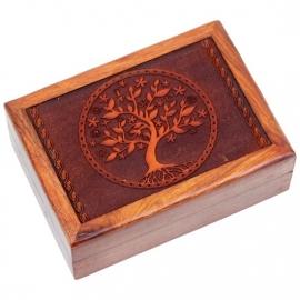 """Tarotdoos """"Tree of Life"""" Gegraveerd"""