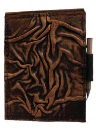 """Lederen Notitieblok Small bruin """"Krinkel"""" 12 cm"""