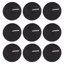 Zwarte Waxinelichtjes (9 stuks)