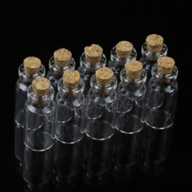 Mini Flesje met Kurk Helder 2 ml (4 stuks)