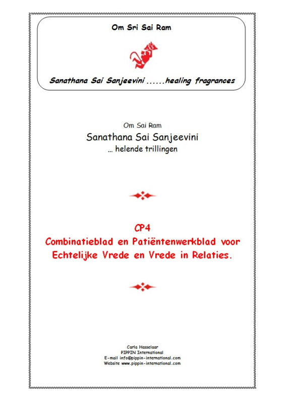 """CP4 - Thema-uitgave """"Vrede in Relaties"""""""