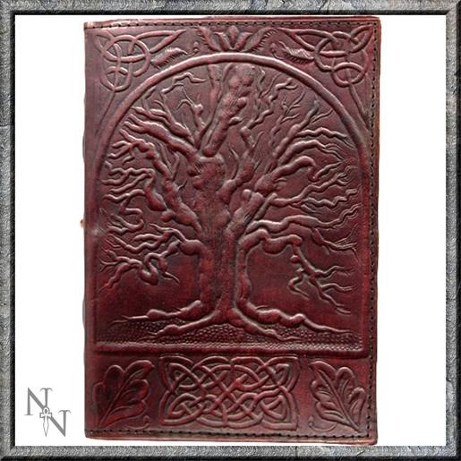 """Lederen Blanco Boek """"Tree of Life"""" 25 cm"""