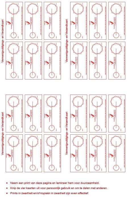 Werkkaart 7 - Vermenigvuldigings- en Verzendkaart 24x
