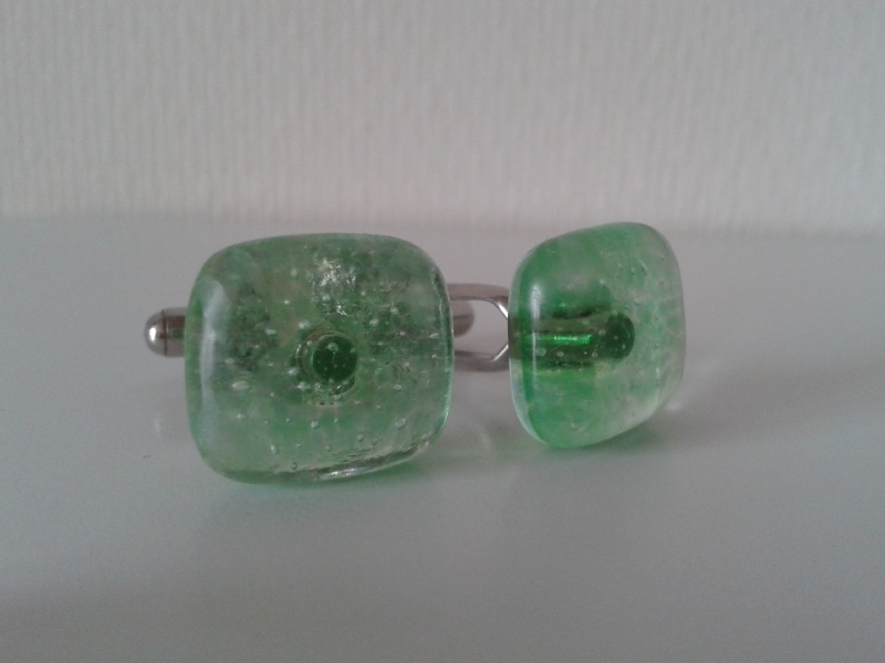 Manchetknopen lente groen