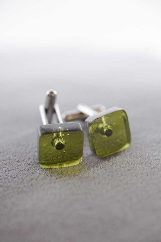 manchetknopen olijf groen 1141