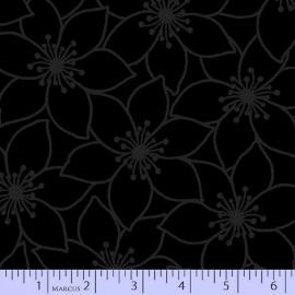 Zwart met zwarte bloem