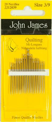 John James -Quilting     20 needles Size 3/9