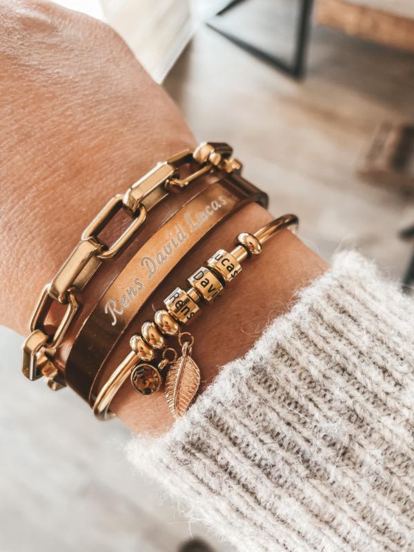Armband met naambedel(s)
