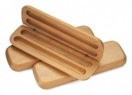 Pennendoos 2 pennen Esdoorn hout