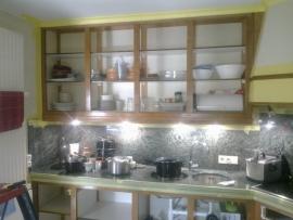 Glasparelstralen van keuken