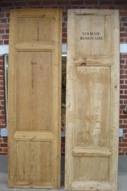 Glasparelstralen van oude deuren in Pitch Pine