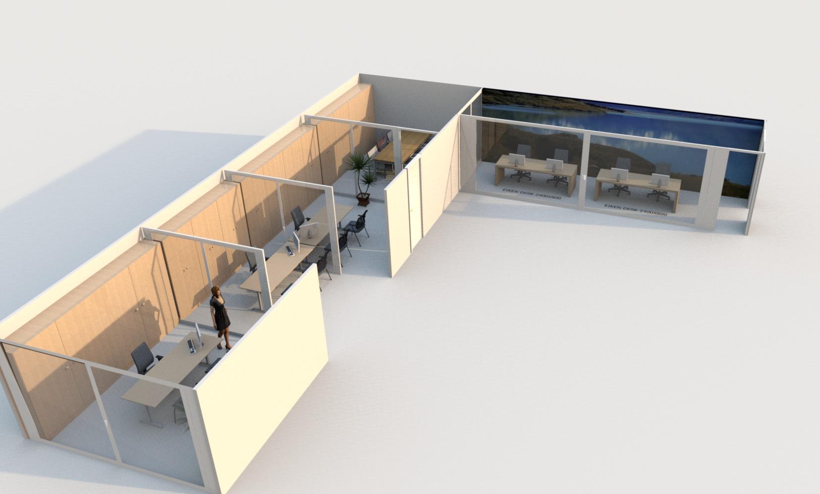 Opstart 2017 / aanbouw nieuwe kantoorruimte te Oudenaarde