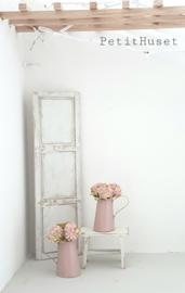 Oud Roze Waterkan met Hortensia,s