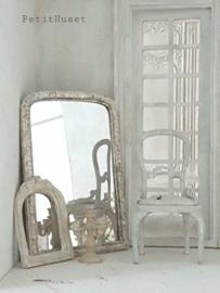 Oude Brocante Franse Spiegel