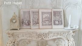 Set van 4 ,18de eeuwse Platen