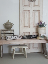 Drugstore + Pharmacy signs