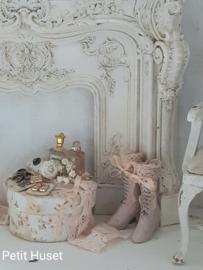 Oude Roze Victoriaanse Laarsjes