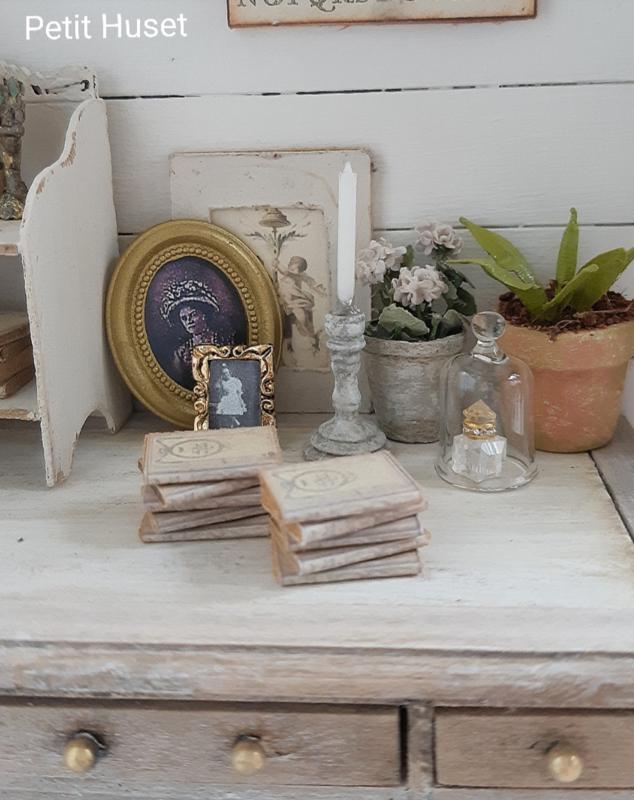Stapeltje Oude Franse Boekjes
