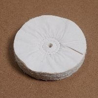 Lappenschijf flanel meervoudig gestikt, voor uitpoetsen150x30mm