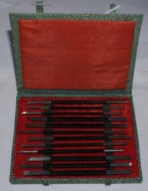 Beitels en mesjes set voor speksteen 12 delig