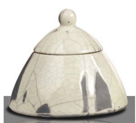 RAKU glazuur, transparant glanzend 500 gram 850 - 1050 °C