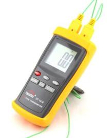 Hoge Temperatuurmeter, Thermometer, Pyrometer tot 1350ºC Compleet met voeler