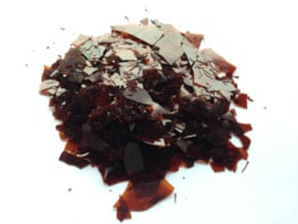 Schellak vlokken Lemon Rood/bruin op te lossen in spiritus of ethanol 250 gram