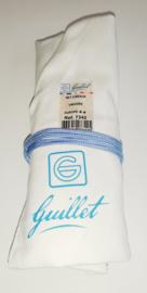 Set van 8 letterbeitels Guillet in witte linnen tas