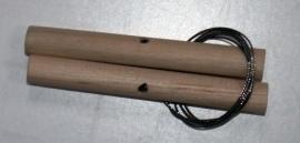 Kleisnijder met twee houten stokjes en flexibele draad van 50cm