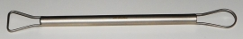 Mirette draad RVS met stalen snijvlak dubbelzijdig 19cm LSS381