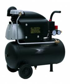 * Compressor 220volt 25liter tank, geschikt voor gebruik met de  luchthamer
