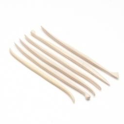 Spatels palmhout miniset 6 delig 15 cm