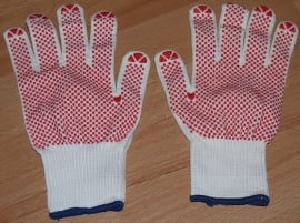 Handschoen stretch met grip noppen