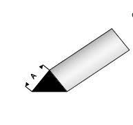 PVC staf driehoeksvorm 4,3x3mm per meter