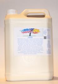Flüssiglatex 5 Liter liquid latex Latexmilch, naturfarben, 5000ml Naturgummi flüssig, Latex, Gummimilch, Sockenstopp, Halloween, Masken, Wunden, Narben