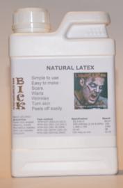 Flüssiglatex 0,5 Liter liquid latex Latexmilch, naturfarben, 500ml Naturgummi flüssig, Latex, Gummimilch, Sockenstopp, Halloween, Masken, Wunden, Narben