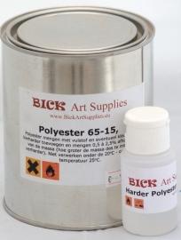 Polyester 1 liter verpakking inclusief verharder