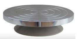 Draaischijf aluminium 22cm diameter hoogte 5,5cm