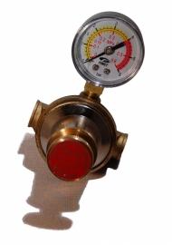 Gasdruk regelaar traploos regelbaar met manometer