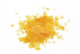 Schellak lichtgekleurd/kleurloos vlokken op te lossen in spiritus of ethanol250 gram